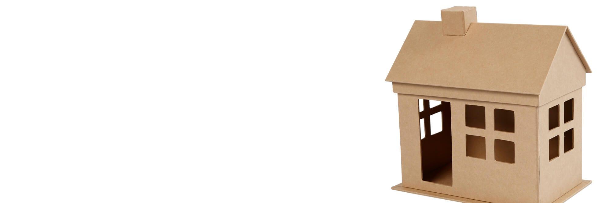 Dekorative hus og kjøretøy