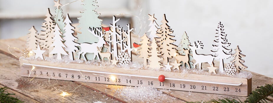 Juledekorasjoner, julelys og kalenderlys