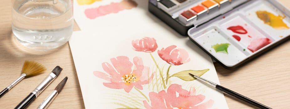 Mal med akvarell