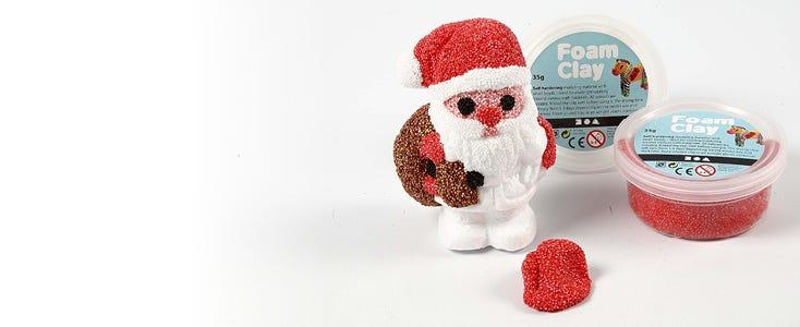 Juledekorasjoner med Foam Clay og Silk Clay