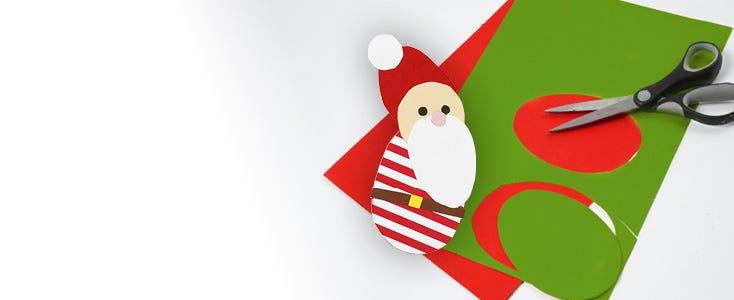Juleklipp med sjablonger