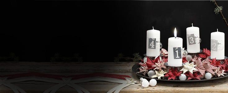 Adventskrans og adventsdekorasjoner