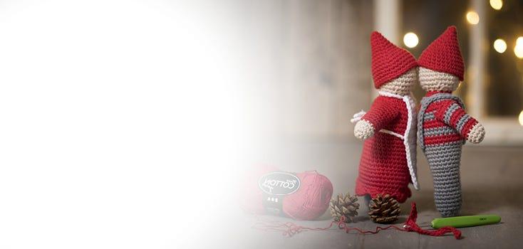 Heklet julepynt og julestrikk