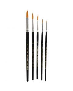Gold Line Pensel, rund, nr. 1-18, B: 2-7 mm, 5 stk./ 1 pk.