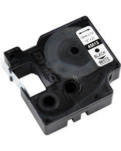 Dymo tape, B: 12 mm, hvit, 7 m/ 1 rl.