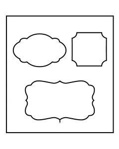 Skjæresjablong, tag, str. 14x15,25 cm, tykkelse 15 mm, 1 stk.