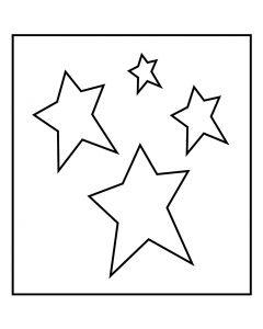 Skjæresjablong, stjerne, str. 14x15,25 cm, tykkelse 15 mm, 1 stk.