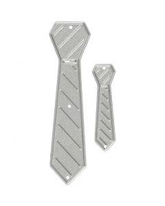 Skjæresjablong, slips, str. 26x99+9x35 mm, 1 stk.