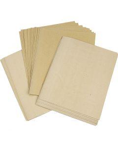 Sandpapir, 30 ass. ark/ 1 pk.