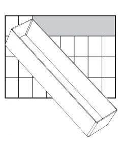 Basisinnsats, nr. A8-3, H: 47 mm, str. 235x55 mm, 1 stk.