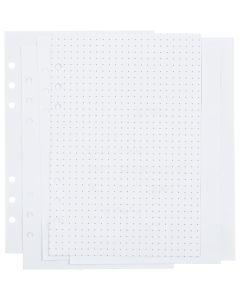 Notatpapir, prikker/dotter, str. 142x210 mm, 36 , 120 g, hvit, 1 stk./ 1 pk.