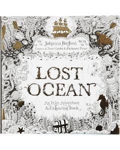 Antistress malebok, Lost Ocean, str. 25x25 cm, 80 , 1 stk.