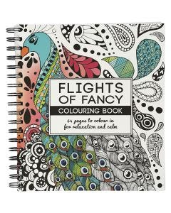 Antistress malebok, Flights of Fancy, str. 19,5x23 cm, 64 , 1 stk.