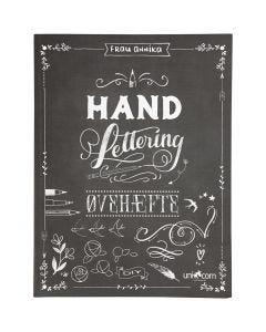 Øvingshefte til 'Hand Lettering' , str. 21x28 cm, tykkelse 1 cm, 63 , 1 stk.