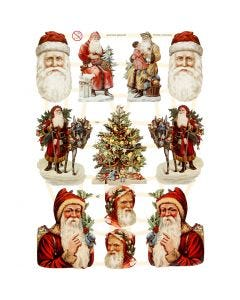 Glansbilder, jul, 16,5x23,5 cm, 3 ark/ 1 pk.