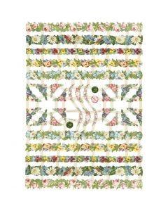 Glansbilder, blomsterranker, 16,5x23,5 cm, 3 ark/ 1 pk.