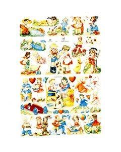 Glansbilder, barnelek, 16,5x23,5 cm, 2 ark/ 1 pk.