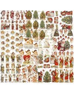 Glansbilder, jul, 16,5x23,5 cm, 30 ark/ 1 pk.