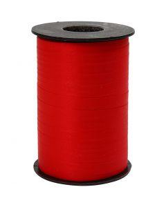 Gavebånd, B: 10 mm, matt, rød, 250 m/ 1 rl.