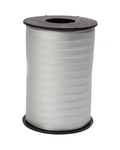 Gavebånd, B: 10 mm, matt, sølv, 250 m/ 1 rl.