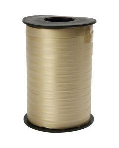 Gavebånd, B: 10 mm, matt, gull, 250 m/ 1 rl.