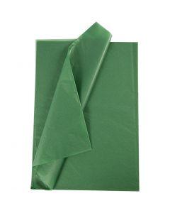 Silkepapir, 14 g, grønn, 10 ark/ 1 pk.