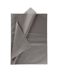 Silkepapir, 50x70 cm, 14 g, mørk grå, 10 ark/ 1 pk.