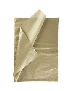Silkepapir, 50x70 cm, 14 g, gull, 6 ark/ 1 pk.