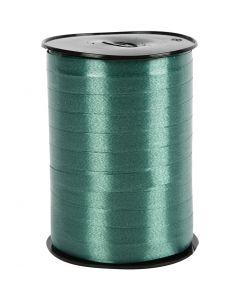 Gavebånd, B: 10 mm, blank, mørk grønn, 250 m/ 1 rl.
