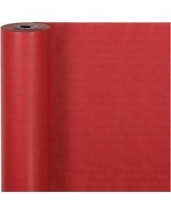 Gavepapir, B: 50 cm, 60 g, rød, 100 m/ 1 rl.