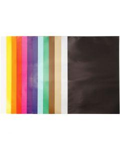 Glanspapir, 32x48 cm, 80 g, ass. farger, 100 ark/ 1 pk.