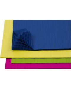 Harmonikapapir, 28x17,8 cm, ass. farger, 4x2 ark/ 1 pk.