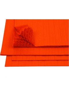 Harmonikapapir, 28x17,8 cm, orange, 8 ark/ 1 pk.