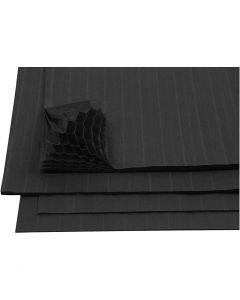 Harmonikapapir, 28x17,8 cm, svart, 8 ark/ 1 pk.