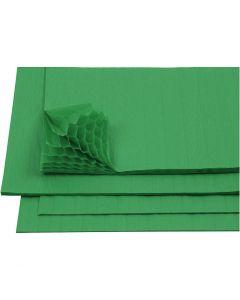 Harmonikapapir, 28x17,8 cm, grønn, 8 ark/ 1 pk.