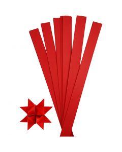Stjernestrimler, L: 73 cm, dia. 11,5 cm, B: 25 mm, rød, 100 strimler/ 1 pk.