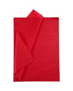 Silkepapir, 50x70 cm, 14 g, rød, 25 ark/ 1 pk.