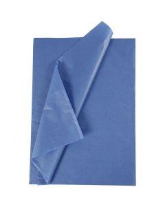 Silkepapir, 50x70 cm, 14 g, blå, 25 ark/ 1 pk.