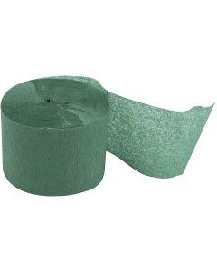 Kreppapir ruller, L: 20 m, B: 5 cm, grønn, 20 rl./ 1 pk.