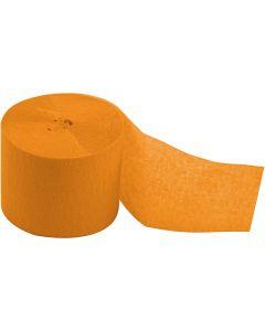 Kreppapir ruller, L: 20 m, B: 5 cm, gul, 20 rl./ 1 pk.