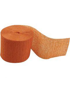 Kreppapir ruller, L: 20 m, B: 5 cm, orange, 20 rl./ 1 pk.