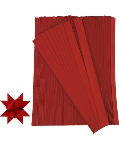 Stjernestrimler, L: 45 cm, dia. 6,5 cm, B: 15 mm, rød, 500 strimler/ 1 pk.