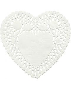 Kakeservietter, hjerte, dia. 10 cm, 30 stk./ 1 pk.
