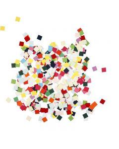 Kartongmosaikk, kvadratiske, str. 10x10 mm, 180 g/ 1 pk.