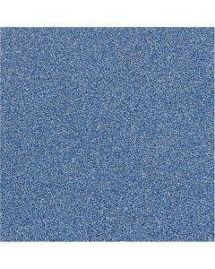 Glitterfilm, B: 35 cm, tykkelse 110 my, blå, 2 m/ 1 rl.