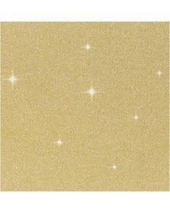 Glitterfilm, B: 35 cm, tykkelse 110 my, gull, 2 m/ 1 rl.