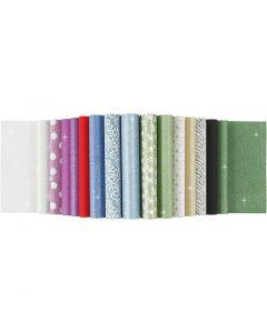 Glitterpapir i blokk, A4, 210x297 mm, 150 g, 30 ark/ 1 stk.