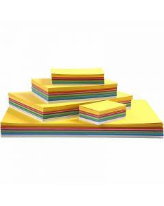 Vårkartong, A2,A3,A4,A5,A6, 180 g, ass. farger, 1800 ass. ark/ 1 pk.