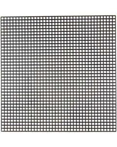 Syplast, str. 14x14 cm, hullstr. 3x3 mm, svart, 5 ark/ 1 pk.