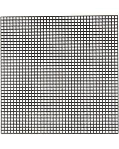 Syplast, str. 14x14 cm, hullstr. 3x3 mm, svart, 50 ark/ 1 pk.